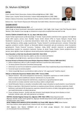 Dr. Muhsin GÜNEŞLİK