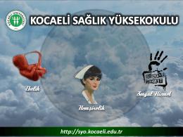 Sosyal Hizmet - Kocaeli Sağlık Yüksekokulu