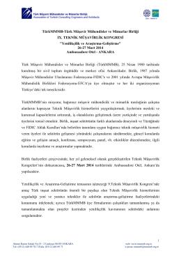 TürkMMMB TMK Bilgi Notu