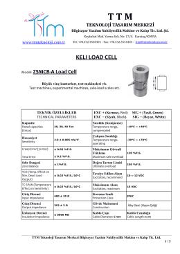 kelı zsmbc-a load cell - TTM Teknoloji Tasarım Merkezi