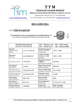 KELI LFSC-A LOAD CELL - TTM Teknoloji Tasarım Merkezi