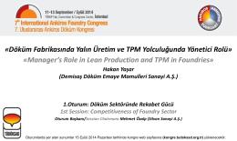6. TPM ile beraber Yalın felsefesini benimsemek