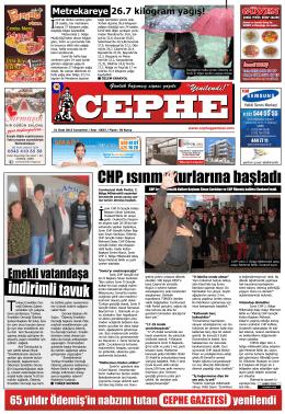 31.01.2015 Tarihli Cephe Gazetesi
