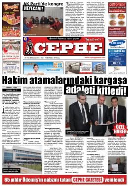 28.01.2015 Tarihli Cephe Gazetesi