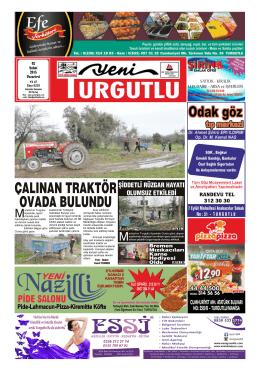 e-gazete - Yeni Turgutlu Gazetesi