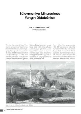 Süleymaniye Minaresinde Yangın Didebânları
