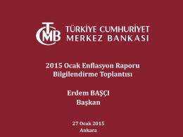 Enflasyon Raporu 2015-I