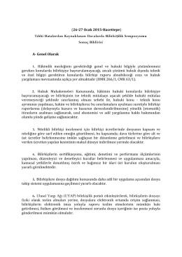 (26-27 Ocak 2015-Hacettepe) Tıbbi Hatalardan Kaynaklanan