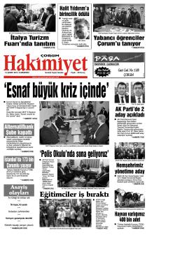(14 \376ubat.qxd) - Hakimiyet Gazetesi