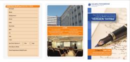 Başvuru Formu - Sağlık Bilimleri Enstitüsü