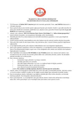 sınav uygulama yönergesi - Trabzon Milli Eğitim Müdürlüğü