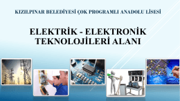 elektrik elektronik teknolojileri