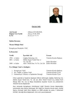 Dikran Gülmezgil - ÇAĞDAŞ Finans Factoring Hizmetleri A.Ş.