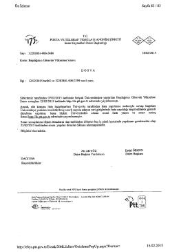 Ek-3:16/02/2015 tarihli ve 2484 sayılı