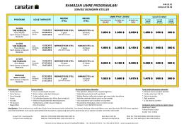 ramazan umre programları - Canatan Seyahat Acentası