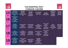 van shoppıng fest etkinlik takvimi