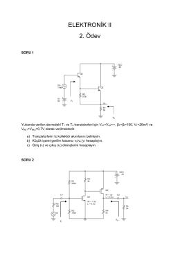 ELEKTRONİK II 2. Ödev
