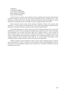 medeni yargılama hukuku ıı yargıtay kararları (12. hd