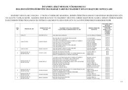 istanbul şişli meslek yükskeokulu 2014-2015 eğitim