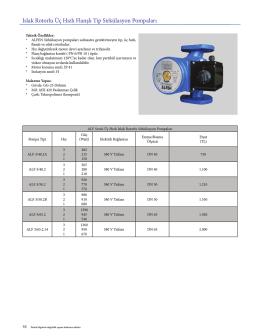 Islak Rotorlu Üç Hızlı Flanşlı T p S rkülasyon Pompaları