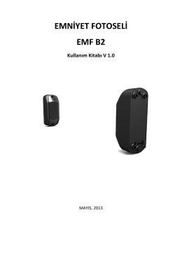 EMNİYET FOTOSELİ EMF B2 Kullanım Kitabı V 1.0