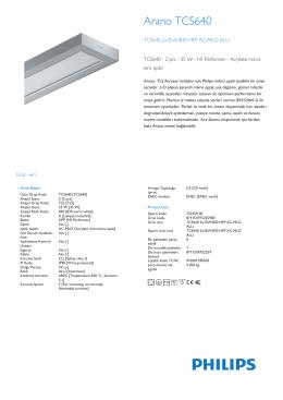 Product Leaflet: PMMA ya da polikarbonat mikro mercek optikler (AC