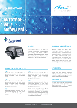 AUTOTROL VALF MODELLERİ