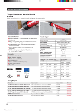 Yangın Durdurucu Akustik Mastik CP 606