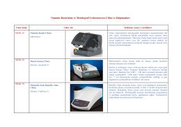 Numune Hazırlama ve Metalografi Laboratuvarı Cihaz ve Ekipmanları