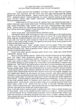 24.01.2014 Tarihli Olağan Genel Kurul Toplantı Tutanağını indirmek