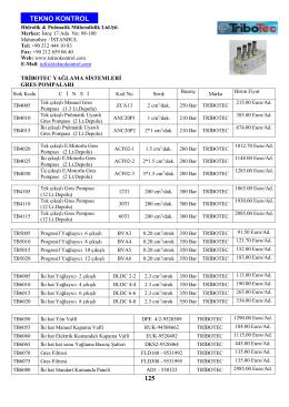 125 tekno kontrol - Teknokontrol Hidrolik Pnömatik Mühendislik Ltd
