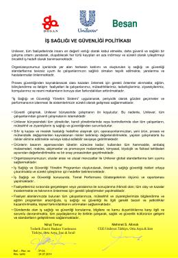 İş Sağlığı ve Güvenliği Politikası - PDF