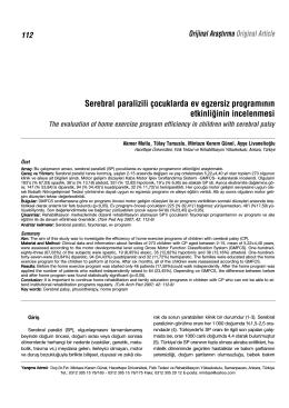 Full Text (PDF) - Türk Pediatri Arşivi