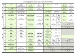 Lisans Haftalık Ders Programı - Kimya Mühendisliği Bölümü