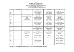 Moleküler Biyoloji ve Genetik - I. Sınıf Haftalık Ders Programı
