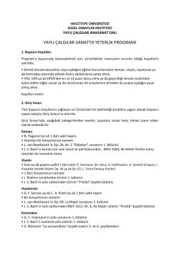 Yaylı Çalgılar - Hacettepe Üniversitesi Güzel Sanatlar Enstitüsü