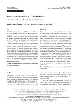Konjenital orofasiyal yarıklar: Etyolojisi ve sıklığı