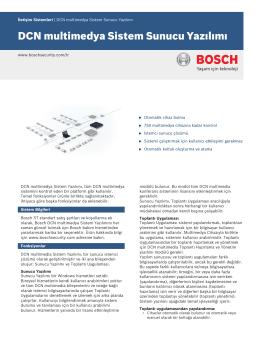 DCN multimedya Sistem Sunucu Yazılımı