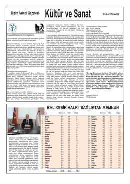 Bizim İvrindi Gazetesi BALIKESİR HALKI SAĞLIKTAN MEMNUN