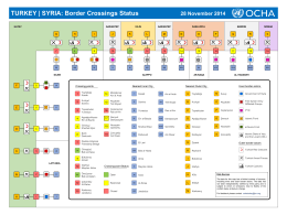 TURKEY | SYRIA: Border Crossings Status