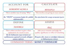 Command Terms / Komut Terimleri