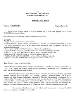 T.C DOKUZ EYLÜL ÜNİVERSİTESİ DEVLET KONSERVATUVARI