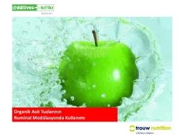 Organik Asit Tuzlarının Ruminal Modülasyonda Kullanımı