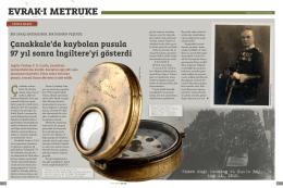 evrak-ı metruke - Unutulmaz Anlar