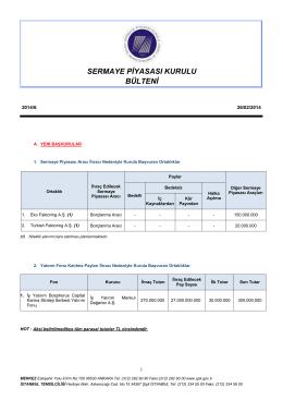 6 - Sermaye Piyasası Kurulu
