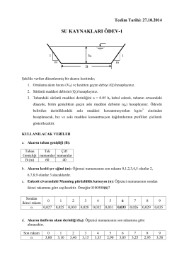 Su Kaynakları Ödev-1