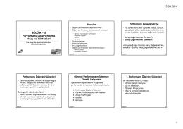 H4-Performans Değerlendirme Araçları