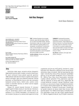 Asit Baz Dengesi Acid Base Balance