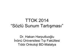 """TTOK 2014 """"Sözlü Sunum Tartışması"""""""