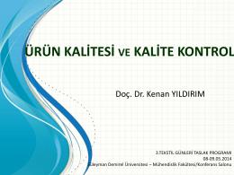 Doç. Dr. Kenan YILDIRIM
